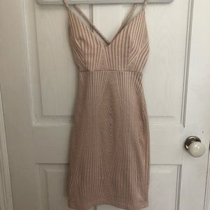 Nude crochet Cocktail Dress ✨